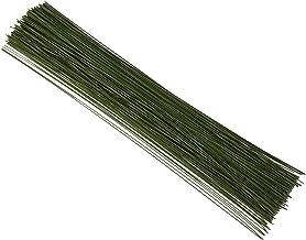 Floral Stem Wire for DIY Crafts and Flower Arrangements (16 in, 22 Gauge, 300 Pack)