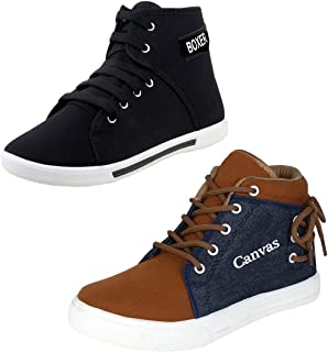 Bersache Men Combo Packs of 2 Casual Sneakers Shoes