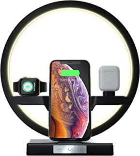 Wireless Charger, Compatible with Apple Watch/Airpods MUSICBEE 4 in 1 QI Certified 10W Fast Wireless Charger Station Compatible with iPhone 11 / 11pro / 11pro Max/X/XS/XR/Xs Max / 8/8 Plus (Black)