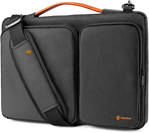 tomtoc Laptop Shoulder Bag for 13.5 Inch New Microsoft Surface Book 3/2/1, Surface Laptop 3/2/1, 360 Protective Case ...