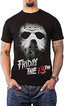 Friday The 13th T Shirt Jason Hockey Mask Movie Logo Official Mens Black