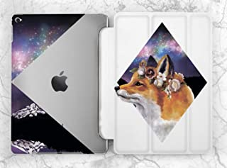 Black Geometric Space Fox Case For Apple iPad Mini 1 2 3 4 5 iPad Air 2 3 iPad Pro 9.7 10.5 11 12.9 inch iPad 9.7 inch 2017 2018 2019