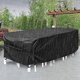 OKJ Outdoor Patio Furniture Covers, Extra Large Outdoor Furniture Set Covers Waterproof, Windproof, Tear-Resistant, UV, Fi...