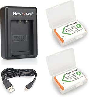 Newmowa NP-BX1 Batería de repuesto (2-Pack) y Kit de Cargador Doble para Micro USB portátil para Sony NP-BX1 / M8 y Sony Cyber-Shot DSC-RX100 DSC-RX100 II DSC-RX100M II DSC-RX100 III DSC-RX100 IV DSC-RX100 V DSC-RX100 VII/M8Sony Cyber-shot DSC-HX50V DSC-HX300 DSC-HX400DSC-RX1 DSC-RX1R DSC-RX100 DSC-RX100 IIDSC-RX100 VI DSC-RX100M II DSC-WX300 HDR-AS10 HDR-AS15 HDR-AS30VHDR-AS50R HDR-AS100V HDR-AS100VR HDR-AS300RHDR-CX240 HDR-MV1 HDR-PJ275FDR-X3000 FDR-X3000R