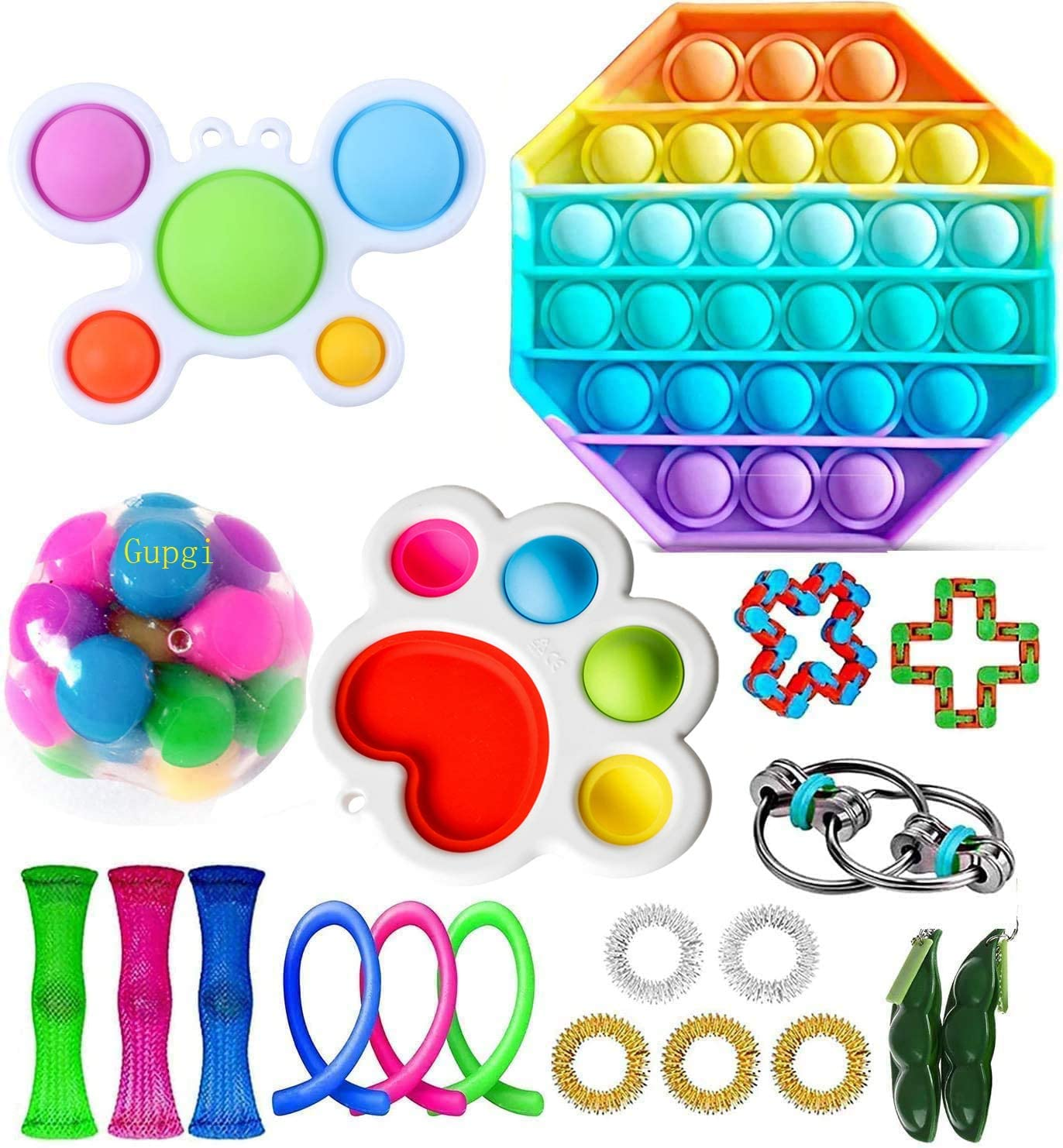 N//A Fidget/Simple/Dimple/Toy/Keychain/Stress/Reliever/Toy/Portable/Handheld/Mini/Decompression/Toy/Simple/Dimple/Fidget/Popper/Toy/Sensory/Toy