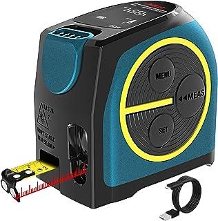 Télémètre Laser Numérique,Hanmer Mètre Laser Numérique,Mètre Ruban Laser, Distance Entre Jauge à Laser et Ruban à Mesurer ...