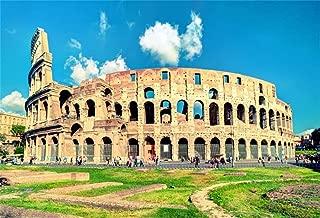 AOFOTO 7x5ft Roman Empire Colosseum Backdrop Photography Background Coliseum Ancient Amphitheatre Ancient Civilization Ruin Italy Travel Photo Shoot Studio Props Video Drop Vinyl Wallpaper Drape