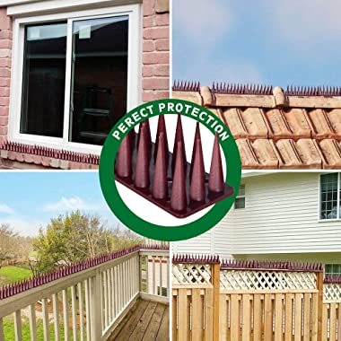 HOMIEST Defender Spikes, Wall Spikes, 5.28M/17.3 Feet Cat and Bird Repellent Fence Spikes, Plastic Deterrent Anti Theft Climb