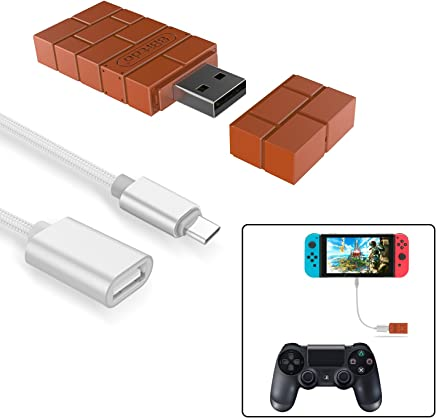 8Bitdo Wireless Controller Adapter for Nintendo Switch,Windows,Mac & Raspberry Pi with a OTG Cable