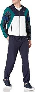 Lacoste Mens Sport Taffeta Color Blocked And Printed Tracksuit