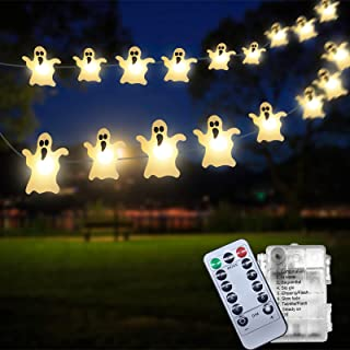 TIDYON Halloween String Lights,30 LED Ghost Hanging...