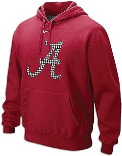 NIKE Alabama Crimson Tide Men's Classic Houndstooth Logo Fleece Pullover Hoodie