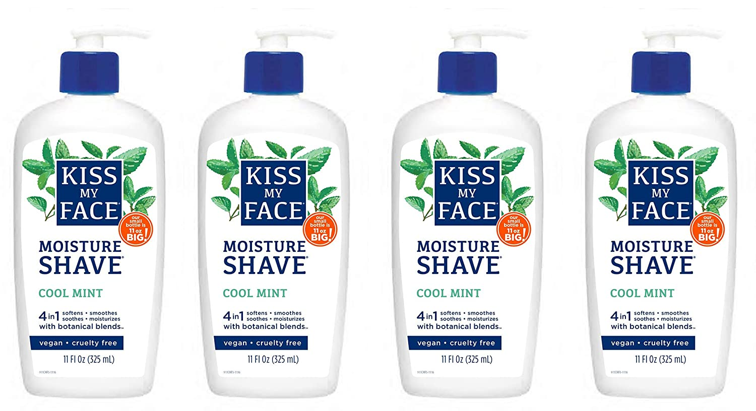 Kiss My Face 4-in-1 Moisture Shave Over item handling ☆ Cool 11 Mint Excellent Oz Fl. Pack of