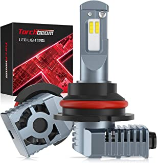 Torchbeam 9007 HB5 Led Headlight Bulbs Conversion Kit, T3 Series Headlights with Fan, Canbus Ready Ip67 Csp Chips 14000LM 6000K White