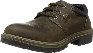 Woodland Men's Gc 2797118sa_Olive Green_7 Leather Clogs-7 UK (41 EU) (8 US) 2797118SAOLIVE