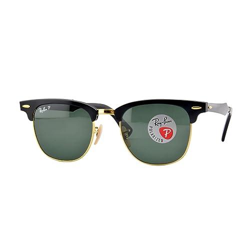 041821323 Ray-Ban Unisex RB3507 Clubmaster Aluminium Polarized Sunglasses 51mm