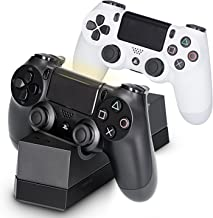 PS4 Controller Charger, Megadream Fast USB Charging Docking Station Solid Stand for Sony Playstation DualShock 4 PS4, PS4 Pro, PS4 Slim – Charge from Bottom Controller More Protective & Safer – Black
