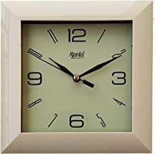 Ajanta Plastic Wall Clock (175 mm x 175 mm x 35 mm 1847-IVORY)