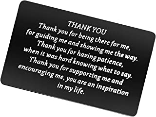 بطاقة هدايا الشكر لك هدية تقدير العائلة للمعلم ومدربي زميل في العمل ، شكرا لك على كونك هناك إلهام في حياتي