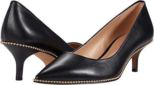 코치 재키 펌프스 COACH Jackie Pump,Black Leather