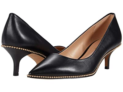 COACH Jackie Pump (Black Leather) Women