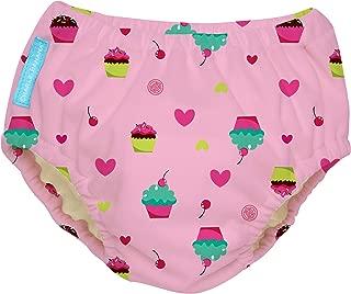 Charlie Banana Extraordinary Swim Diaper, Cupcakes Baby Pink, X-Large