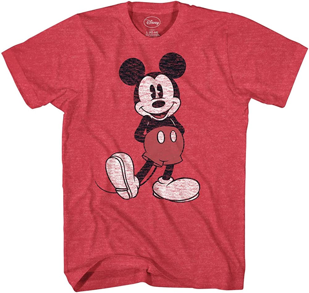 Disney Men's Full Size Mickey Mouse Distressed Look T-Shirt |
