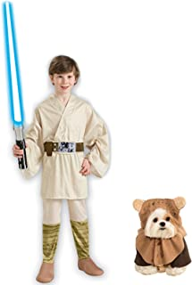 Rubie's Star Wars Luke Skywalker Child M and Pet S Costume Bundle Set