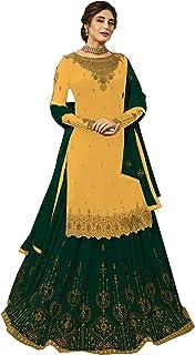 INFOTECH Women's Faux Georgette Sharara Salwar Suit
