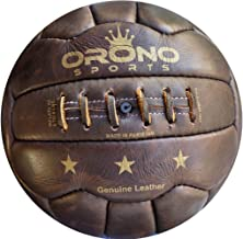 1 NEW RETRO LOOK VINTAGE STYLE GENUINE REAL LEATHER SOCCER BALL 18 Panel size 5