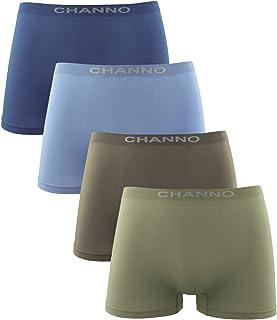 Channo Calzoncillos Boxer Niño Sin Costuras Infantil Licra Liso Elástico Microfibra Pack