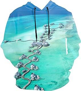 aportt 3D Prints Pullover Jumpers Breathable Hoodies Sea Life W Sweatshirts Mens Size S M L XL 2XL