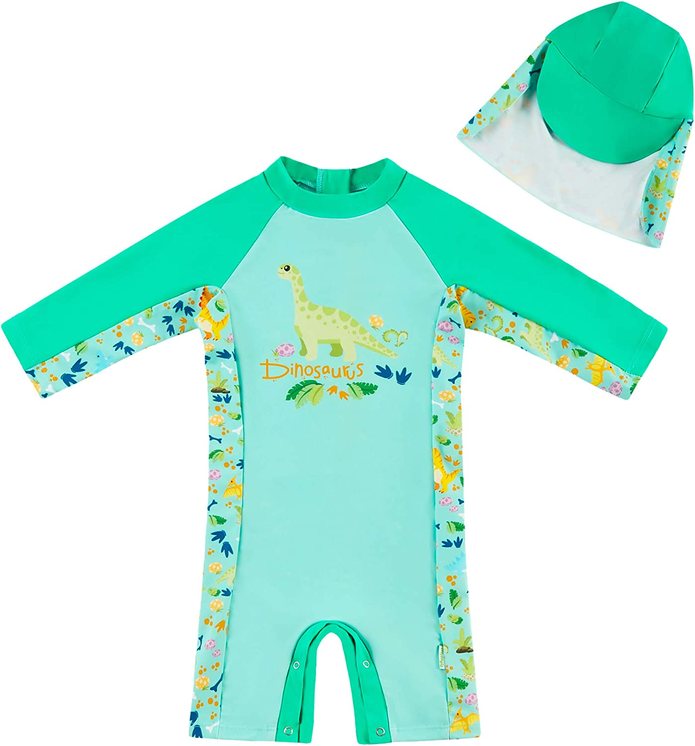 upandfast Baby Boy Girl excellence Swimsuit with Bottom Sale special price Snap UPF Sun 50+ Pr