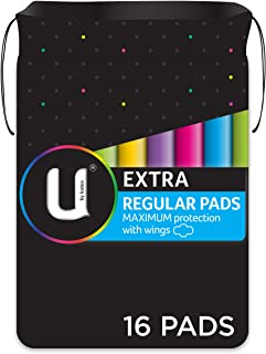 U BY KOTEX Maxi's U by Kotex Extra Pads Regular with Wings (Pack of 16), Pack of 16 0.146 kilograms