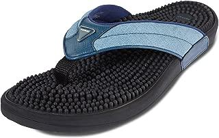 Kenkoh Japanese Massage/Reflexology Sandal Genki Metallic Blue Slip on Shoe - for Acupressure Therapy - Unisex