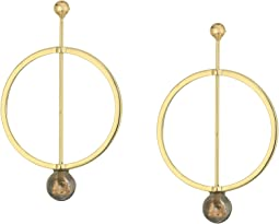 SHASHI - Linear Marble Hoop Earrings