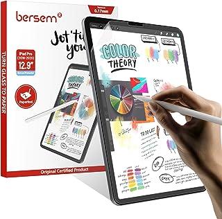 واقي شاشة BERSEM [2 علبة] من الورق متوافق مع iPad Pro 12. 9 بوصة بدون زر الصفحة الرئيسية، iPad pro 12. طبقة تريفثالات الأث...