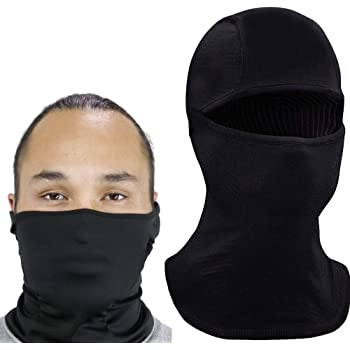 Self Pro Face Mask Balaclava Protection from Dust, UV & Aerosols - Reusable Bandana Face Cover Black