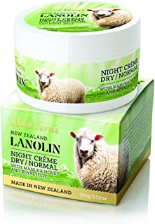 Wild Ferns Lanolin, Manuka Honey, and Royal Jelly Night Cream for Dry to Normal Skin