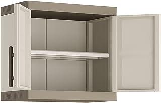 comprar comparacion Keter Excellence Armario para Pared, Arena/Gris, 56.5 x 65 x 39 cm
