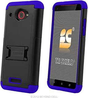 Designed For HTC Droid DNA Case, 6435, PimpCase Durable Hybrid Rugged Armor Shockproof Black Blue Phone Cover with Built in Kickstand