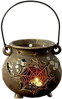 DII Spider Web Cauldron Ceramic Lantern