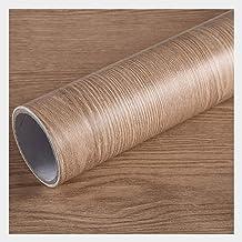 Wallpaper PVC Waterproof Wallpaper | Imitation Wood Grain Self-adhesive Wallpaper | DIY Decorative Furniture Background Wa...