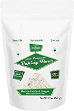 Cricket Flour: All Purpose Baking Flour 12oz (Blended Mix) – Made in Portland, Oregon with High Protein Cricket Protein Po...