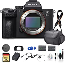Sony Alpha a7 III Full-Frame Mirrorless Digital Camera (Body Only) Bundle - with Bag, Extra Battery, 64GB Memory Card, Memory Card Reader and More.