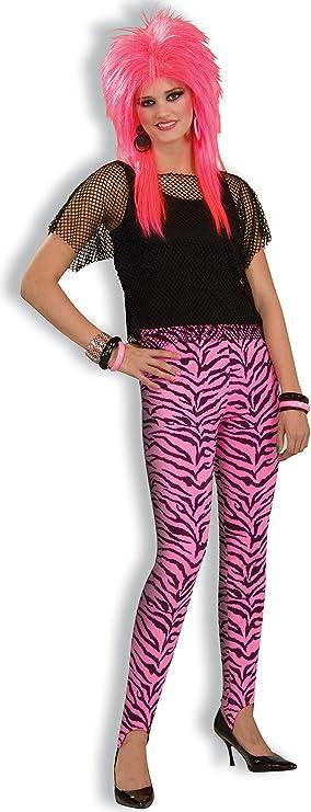 80s Costumes, 80s Clothing Ideas- Girls Womens Pink Zebra Stir-Up Pants Costume  AT vintagedancer.com