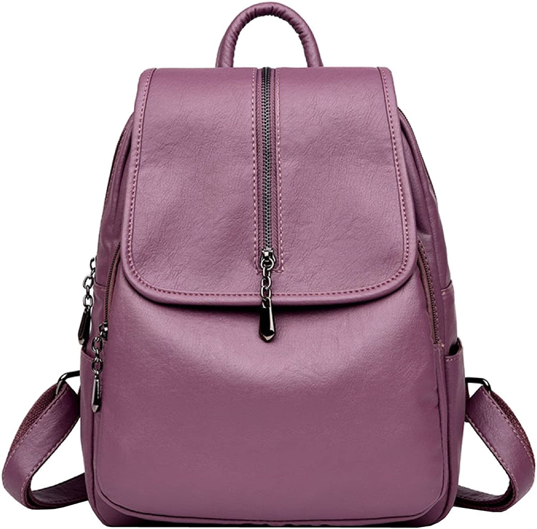 LAIDAYE Shoulder Bag Handbags Fashion Large Capacity Leisure Pu Soft Leather Backpack Lady Travel Bag