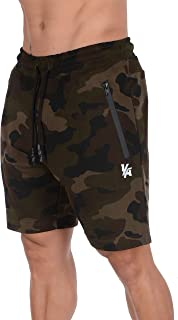 YoungLA Mens Shorts with Zipper Pockets | Casual Gym Training 108