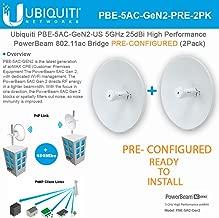 PowerBeam AC Gen2 5 GHz PBE-5AC-Gen2 PRECONFIGURED High Performance airMAX (2Pack)