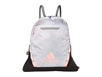 adidas Rumble III Sackpack (Jersey White/Sky Tint Blue/Glory Pink) Duffel Bags
